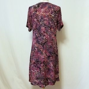 Orvis Dresses - Orvis Button Front Fern Print Dress Sz. M